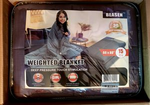 "Weighted Blanket gray 15 lbs, 60""x80"" (queen) for Sale in Seminole, FL"