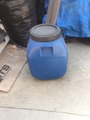Blue plastic barrel for Sale in East Los Angeles, CA