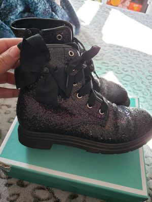 Girls Jojo siwa rainbow glitter size 12 boots for Sale in Los Angeles, CA