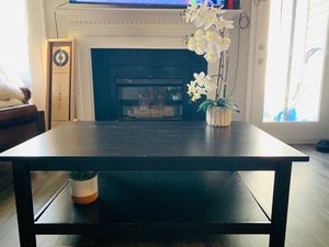 Black Ikea coffee table with bottom shelf for Sale in Springfield, VA