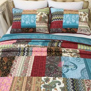 Reversible Twin Boho Patch Quilt Bed Set 45% Off Retail Price for Sale in Raleigh, NC