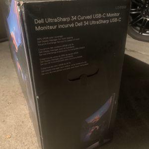 Brand New never open. Dell U3419w Ultrasharp 34-Inch WQHD (3440x1440) Curved IPS USB-C Monitor, Black for Sale in San Jose, CA