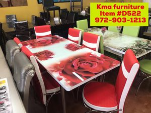 Dining table set with chairs brand new📦 fast delivery available🚚 for Sale in Richardson, TX