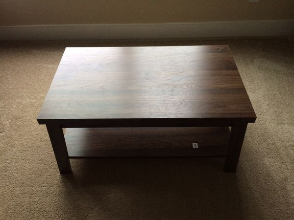 Brand new espresso wood coffee table