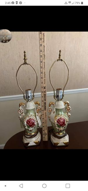 Pair of Antique Ulrich Lamps for Sale in Selma, NC