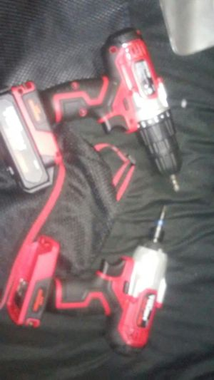 20v hyper tough drill and impact combo set for Sale in Grand Prairie, TX