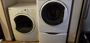 Washer and dryer. Mismatched set with pedestal. for Sale in Portland, OR
