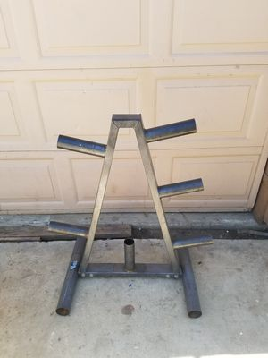 Olympic Weight plate rack for Sale in Colton, CA