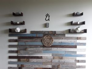 Queen Customizable *Handmade Reclaimed Barnwood* With Ohm And Tree Of Life Handmade Decals for Sale in Portland, OR
