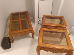 Beautiful 3-piece living room table set for Sale in Raleigh, NC