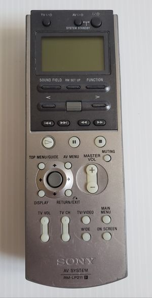 Genuine SONY RMLP211 Audio/Video Receiver Remote Control. for Sale in Adelphi, MD