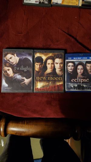 The twilight 1 and 2on dvd eclipse blu ray for Sale in Fogelsville, PA