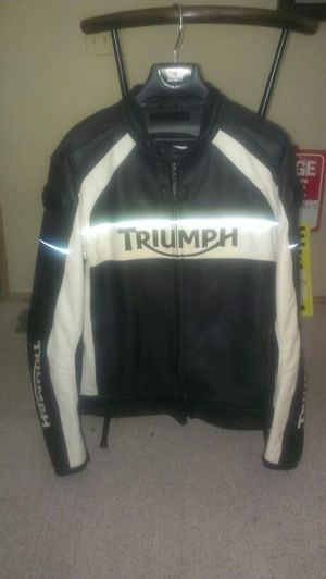 Triumph leather motorcycle jacket for Sale in Federal Way, WA