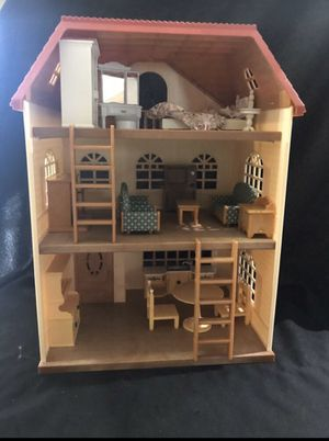 3-story Calico Critters Furnished Oakwood Home w/ accessories & furniture lot for Sale in Lehigh Acres, FL