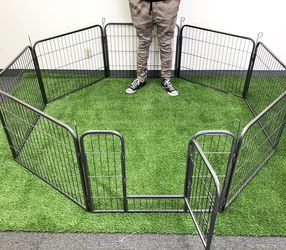 """$70 New in box 8-panel pet playpen, each panel (24"""" tall x 32"""" wide) heavy duty dog exercise fence gate crate kennel for Sale in Pico Rivera,  CA"""