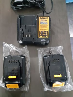Dewalt 2 bateries and charger. New for Sale in Federal Way, WA
