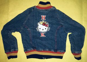 HELLO KITTY CHILDS (6X) DENIM JACKET & TOTE / BAG - lightly used for Sale in Edison, NJ
