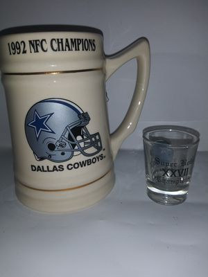 NFL. Cowboys super bowl 27. Mug and shot glass for Sale in Dallas, TX