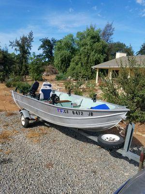 84 Western 14' Aluminum Boat and Trailer for Sale in El Cajon, CA