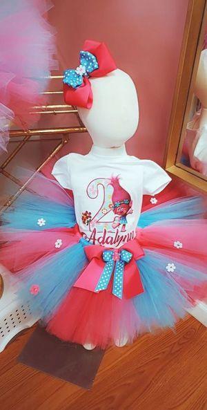 Trolls birthday tutu outfit for Sale in Phoenix, AZ
