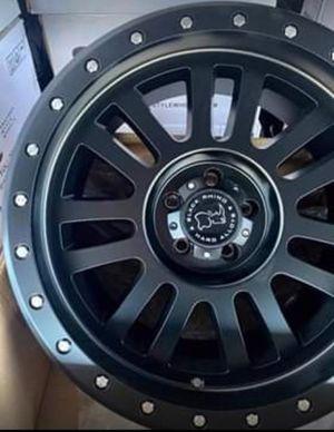 "20"" BLACK RHINO TIRES & WHEELS EL Cajon 20x10 Wheels & Tires + NEW - Complete Only $1299 for Sale in Huntington Beach, CA"