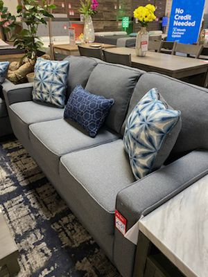 NEW IN THE BOX, CONTEMPORARY STYLE SOFA, STEEL COLOR. for Sale in Westminster, CA