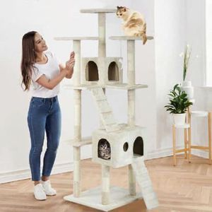 """73"""" Tall Cat Climbing Tree Scratcher Play Condo House for Sale in Hemet, CA"""