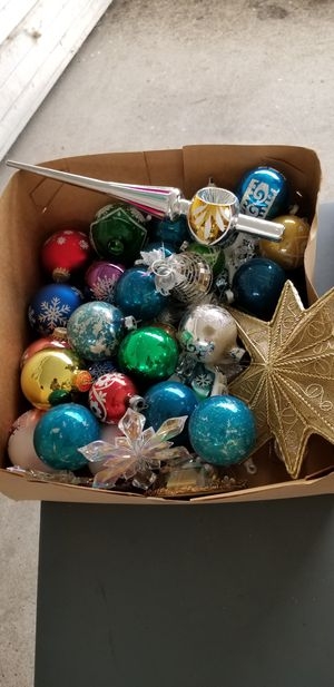 Vintage Christmas ornaments and decor. Asking $80.for all. for Sale in Ceres, CA