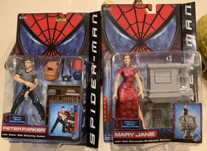 "2002 Spiderman PETER PARKER and MARYJANE Figures 6"" Series 2 ToyBiz NEW for Sale in Modesto, CA"