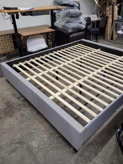 California King bed platform gray color 86x72.5 ( inside measurements) for Sale in Las Vegas,  NV
