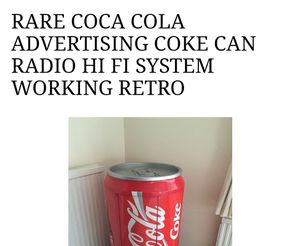 Rare Coke radio for Sale in Canaan, NY