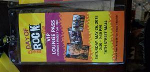 2 Denver day of rock vip lounge passes for Sale in Denver, CO