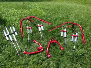 Full Throttle Suspension dual front shock kit with 4 front and 2 rear chrome reservoir shocks for Sale in Jackson, NJ