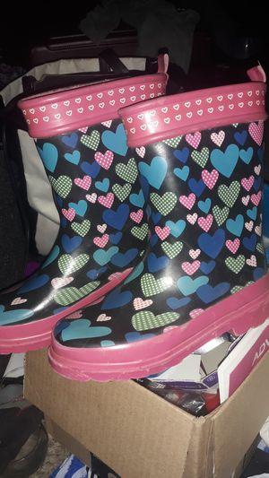 Little girls rain boots 11/12 for Sale in Billings, MT