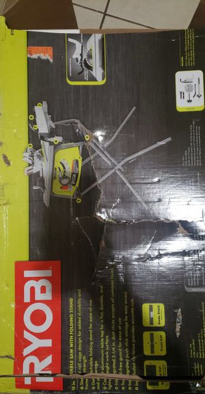 NEW RYOBI 10IN TABLE SAW WITH FOLDING STAND for Sale in Mountain View, CA