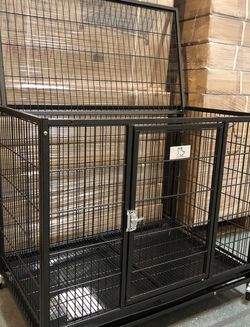 ✅BRAND NEW frenchie & bully heavy duty dog kennel cage crate with wheels and plastic tray sealed box, 🐕 see dimensions in second picture🇺🇸 for Sale in Rye,  NY