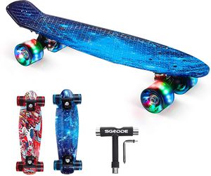 Skateboard 22 inch Mini Cruiser Penny Board with LED Light Up Wheels for Sale in Fairfield, CT