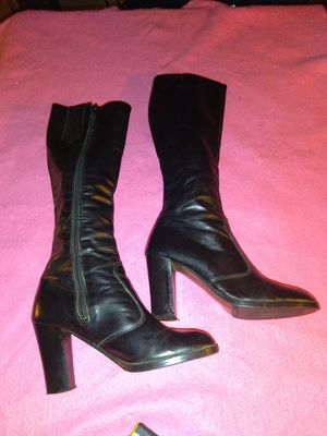 7-1/2 Italian leather boots for Sale in Shepherdsville, KY