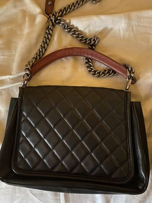 Black Chanel Bag with Red Handle. ❤️ for Sale in Philadelphia, PA