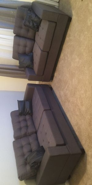 2pc sofa and loveseat gray for Sale in Missouri City, TX