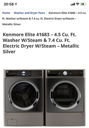 Brand new Kenmore washer and dryer's ( Electric) in boxes sealed box never been open ,,never been used for Sale in Houston, TX
