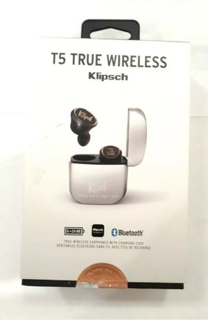 Klipsch T5 True Wireless In-Ear Headphones with Built-In Remote and Microphone for Sale in Houston, TX