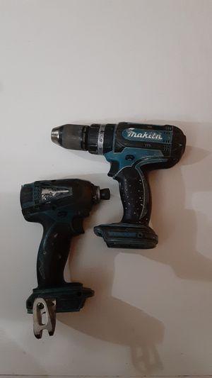 Makita impact 18 v & hammer drill 18 v. for Sale in Dallas, TX