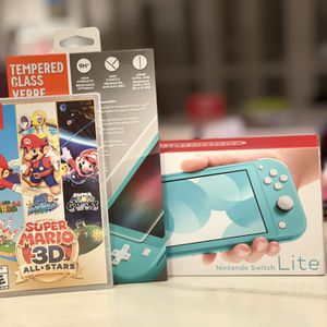 Nintendo Switch Lite With Super Mario 3d All Stars Sealed New And Glass Screen Protector (sealed New) for Sale in Bellevue, WA