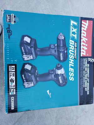MAKITA 18V LXT SUB COMPACT BRUSHLESS DRILL AND IMPACT 2 BATTERIES AND1 CHARGER NEW NEVER USED for Sale in Chino, CA