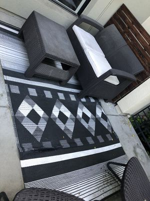 Outdoor Black/white scale Rug for Sale in San Jose, CA