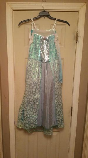 Disney Frozen Elsa child size 8 to 10 Tiara shoes and dress only for Sale in Schaumburg, IL