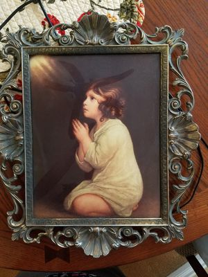 Lighted picture frame prayer of a child for Sale in Orange, CA