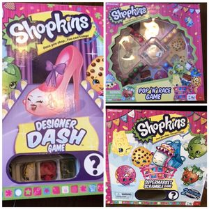 Lot of 3 shopkins games for Sale in Maurice River, NJ