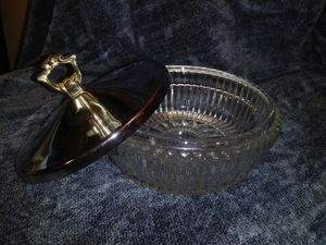 Crystal Candy Dish - storage glass container for Sale in Miami, FL